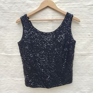 Vintage sequined wool top